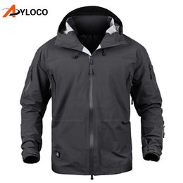 brown coats for men Australia - Men Jacket Coat Autumn Tactical Jacket Waterproof Hard Shell Hunt Jackets Army Windbreaker Clothes for Hiking