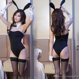 leotards costumes Australia - New Arrival Sexy Underwear Bunny Leotard Bodysuit Set Catwomen Cospaly Bunny Girl Dress Classy Bunny Costume for Role Plays