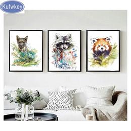 "$enCountryForm.capitalKeyWord Australia - wholesale 3 piece mosaic photo Cross Stitch ""cartoon cute raccoon""3d Embroidery picture of Rhinestone diamond painting room decor"