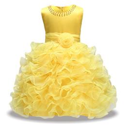 $enCountryForm.capitalKeyWord UK - 2019 Kids Party Dresses For Girls Solid Corlor Elegant Wedding Evening Cake Ball Gown Princess Birthday Children Dresses 3- 8t J190713