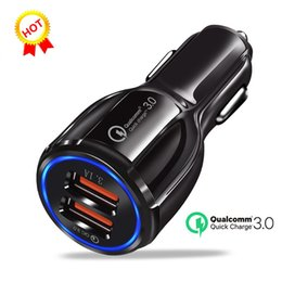 Usb Quick Charger Australia - Dual USB Port 3.1A Quick Charge Car Charger Universal 3.0 QC Fast Charging Dual USB charger Adapter for iPhone X Samsung Note8 S9