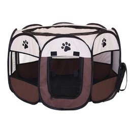 $enCountryForm.capitalKeyWord Australia - HobbyLane 91*91*58cm Outdoor Octagonal Pet Tent Oxford Cloth Foldable Pet Dog Cat and Dog Cage Pets Fence