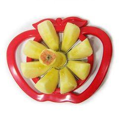 Fruit Tool Handle NZ - Kitchen Apple Slicer Corer Cutter Pear Fruit Divider Tool Comfort Handle for Kitchen Apple Peeler Fast Shipping AVI-0141