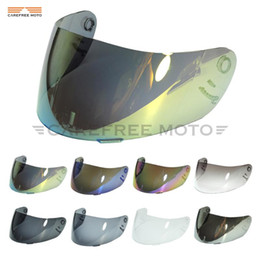 motorcycle helmets face shield NZ - 8 Colors Iridium Gold Motorcycle Helmet Visor Lens Full Face Shield Case for SHOEI CX1-V X11 Raid 2 XR1000 X-Spirit Multitech