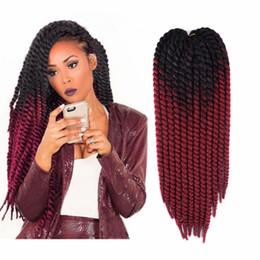 "$enCountryForm.capitalKeyWord Australia - Synthetic Hair For Braiding Pre Twist Synthetic Hair 120g 12strands pc Stretched Length 22"" Ombre Jumbo Havana Mambo Twist Crochet Braids"