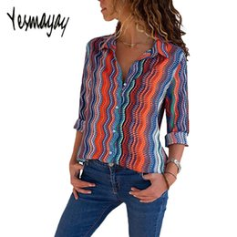 Plus Size Striped Blouse Australia - Blouse Women Plus Size 4xl 5xl Long Sleeve Womens Tops And Blouses Large Sizes Autumn Striped Floral Casual Office Blouse 2018 Y19050501