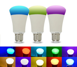 Multicolored Lights Australia - Newest Bluetooth 6W Smartphone Controlled Dimmable Multicolored LED Light Bulb E26 E27 Lights for IOS Android Phone and Tablet