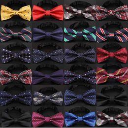 Wholesale Christmas Bow Tie Men's Fashion Black knot Bowtie business wedding men formal necktie For Accessories drop ship