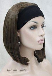 $enCountryForm.capitalKeyWord Australia - WIG LL NEW STYLE Free Shipping >>>>>>Fashion Brown Cute 3 4 wig with headband Women Daily Hair Wig half E-TLD103