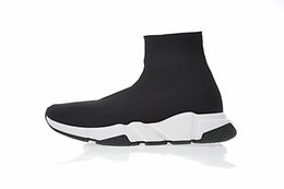 $enCountryForm.capitalKeyWord Australia - 2019 New Designer Sneakers Speed Runner Fashion Shoes Sock Triple Black Boots Red Flat Trainer Men Women Casual Shoes Sport With Dust Bag