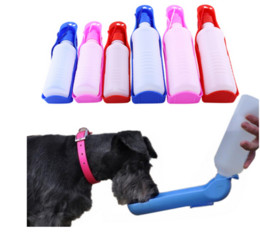 dog water feeder bottle Australia - 2020 new wholesale 250 500ml Dog Water Bottle Feeder With Bowl Plastic Portable Water Bottle Pets Outdoor Travel Pet Drinking Water Feeder