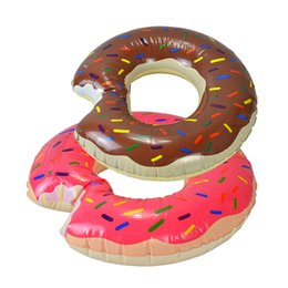 Ingrosso Bambini divertenti ciambelle piscina gonfiabile galleggiante anello nuotatore tubi galleggiante singolo per piscina estiva o giocattolo da spiaggia