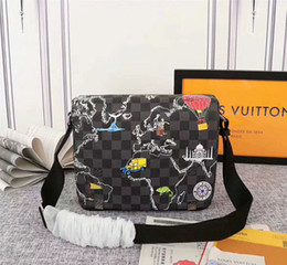 # 7801 pacote manta N40238 clássico 5A L Homens Moda Couro Crossbody Bag V Outdoor carteiro Shoulder Bags Cruz Mulheres saco de corpo em Promoção