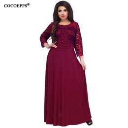 7836cbf85d0a Red vintage dRess xs online shopping - 5xl xl New Women Long Dress Maxi  Autumn Winter