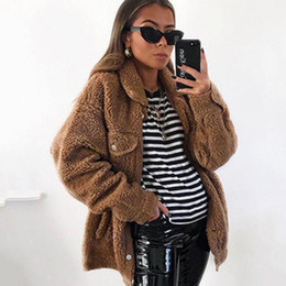 $enCountryForm.capitalKeyWord Australia - 2019 New Winter Simplicity Plush Solid Color Keep Warm Single Breasted Jacket Lady Lapel Slim Fit Long Sleeve Fashion Coat Woman