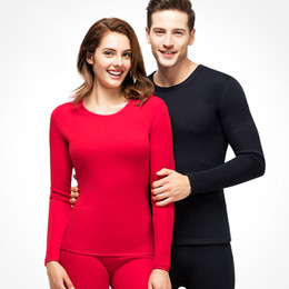 Wholesale couple cotton underwear resale online - 2019 Couple Thermal Underwear Winter Cotton Long Johns Warm Thermo Underwears Thermal Clothing For Men Women s Thermo Underwears SH190927