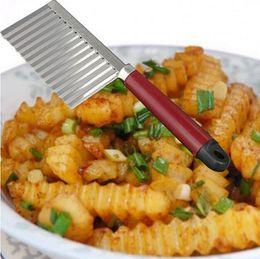 $enCountryForm.capitalKeyWord Australia - Vegetable Cutter Stainless Steel Potato Wavy Edged Cutter Knife Gadget Vegetable Fruit Potato Cutter Peeler Cooking Tools