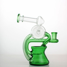 High Grade Water Pipes UK - AS19 Circulating water design high grade glass water bong,Heady Water Pipes Bongs,Oil Rigs Bubbler Smoking Pipe Thick Tall 2019