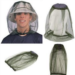 Hunt Camp Wholesale Gear Australia - Wholesale Insect Mosquito Net Mesh Face Fishing Hunting Outdoor Camping Hat Protector Cap Face Protector Travel Camping Outdoor Gear