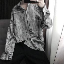 Korean style shirt male online shopping - Man Shirts Funny Cool Autumn Shirt Men Korean Style Shirt Streetwear Long Sleeve mens shirts Top casual high street Males