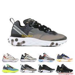 cheap designer shoes sale NZ - Cheap Sale Epic React Element 87 Undercover Running Shoes Men Women Designer Sneakers Dark Grey Photo Blue Sports Trainer Shoes