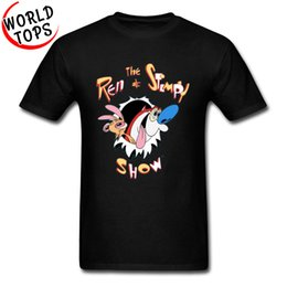 Clothes japan anime online shopping - TV Animation Tshirts The Ren and Stimpy Show Funny Cartoon s Clothing Interesting T Shirt Comic Anime Harajuku Japan Tees