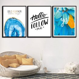 Word Art Canvas Prints Australia - Painting Minimalist HD Printed Simple Feather Nordic Style Words Canvas Art Poster Wall Pictures For Home Wedding Decoration