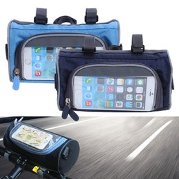 $enCountryForm.capitalKeyWord UK - Mountain Bike Bicycle Bags Panniers Touch Screen Cycling Phone Bag cases Case Road Bike Front Tube Handlebar Cylinder Bag for iphone