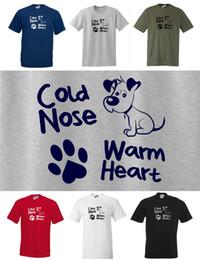 $enCountryForm.capitalKeyWord Australia - COLD NOSE, WARM HEART Cute Dog T-shirt, Small to 5XL Puppy Paw Print, Dogs Men Women Unisex Fashion tshirt Free Shipping black