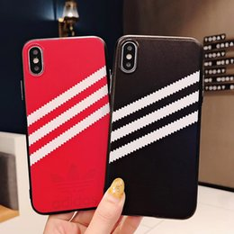 $enCountryForm.capitalKeyWord Australia - wholesale luxury designer phone cases for iphone Xs max fashion embossed AD logo phone case cover for iphone X Xr 7 7plus 8 8plus 6 6plus