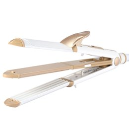 Heated Roller Hair Australia - 3 In 1 Hair Curling Iron EU Plug Hair Straightener Multifunction corrugated Iron Corn Plate Heated Roller