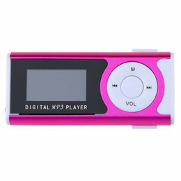 Typing Speaker Australia - New Mini MP3 Player 1.3 LCD Display Clip Type Portable MP3 Player With Speaker Function Support for TF Card Brand
