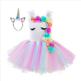 Mini tutus online shopping - Elk Unicorn Dresses for Girls Photography Props Flower Tutu Princess Birthday Party Dress Christmas Cosplay Halloween Costume Girls Clothing