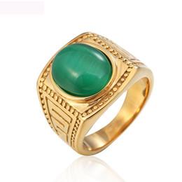 $enCountryForm.capitalKeyWord UK - Big chrysobery cat eye jewelry rings vintage titanium steel gold color ring precious gemstone jewel rings free shipping