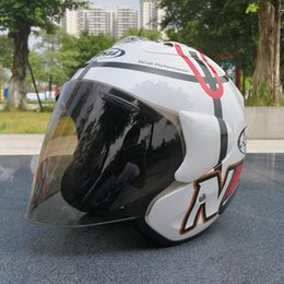 Carbon Fiber Half Helmets Australia - 2019 ARAI Dual Use Skull Motorcycle Helmet Capacete Casco Novelty Retro Casque Motorbike Half Face Helmet free shipping
