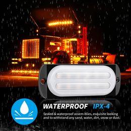 12-24V light guide 12LED truck strobe ultra-thin side light signal warning light on Sale