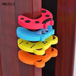 Door Holder Stops Australia - 5pcs lot Animal Jammers Stop for Children Door Stopper Holder Finger Protector Kids Baby lock Safety Edge Corner Guards Cartoon