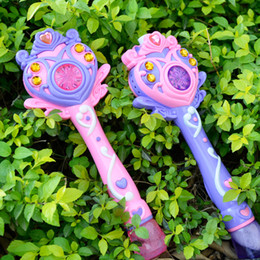 $enCountryForm.capitalKeyWord Australia - [TOP] Princess Fully-automatic electronic bubble machine magic wand music and light bubble gun toy children party kids gift