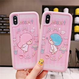 Elephant Phone Cases Australia - Detachable Phone Case For iPhone XS MAX X XR 8 7 6 Plus Case Anime Cartoon Character Rabbit Bear Elephant Dog Teenage Heart Pink Back Cover