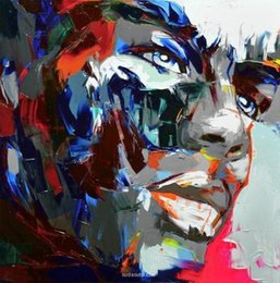 Square Figure Australia - Hand painted Palette knife painting portrait Palette knife Francoise Nielly Face Abstract Oil painting Impasto figure on canvas Decor FN91