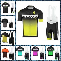 Wholesale SCOTT team Cycling Short Sleeves jersey bib shorts sets Men s Summer Knights Bike Sports Outdoor Wear Factory direct sales U50639