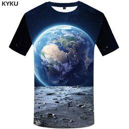 $enCountryForm.capitalKeyWord Australia - KYKU Brand Earth T shirt Men Space Tshirt Moon 3d T-shirt Hip Hop Tee Cool Mens Clothing 2018 New Summer Casual Short Sleeve 4xl