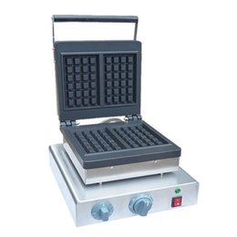 $enCountryForm.capitalKeyWord UK - FREE SHIPPING Commercial Industrial Commercial Waffle Maker Square Waffle Machine Stainless Steel Waffle Iron Baker Equipment