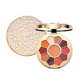 Chinese  Summer Pearl 10 Colors Eye Shadow Palette Shimmer Matte Diamond Shiny Eye Makeup Silky Pigment Shadow Pigment Cosmetic manufacturers