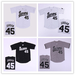Wholesale men s Birmingham Barons Michael Jersey Button Down Black White Grey stitched Movie Baseball Jerseys