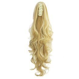 $enCountryForm.capitalKeyWord UK - Long Wavy Clip In Hair Piece Blonde Black Pony Tail Synthetic Hair Claw Ponytail