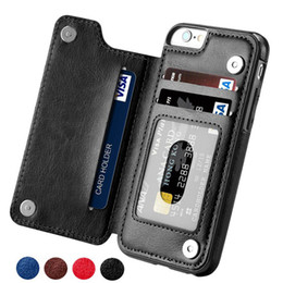iphone leather case clip Australia - Retro Wallet PU Leather Case For iPhone 11 Pro XS Max XR X 6 6s 7 8 Plus 5S Card Holders Phone Case