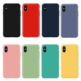 Tpu Full Body Case Australia - Ultra Slim Lightweight Liquid Silicone Cases TPU Snap-on Bumper Covers Full Body Protection Microfiber Lining for iPhone and Samsung Galaxy