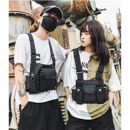 Hunting pack frames online shopping - Chest Bag Street Clothing Belt Multi function designer fannypack Multi pocket Shoulder Strap Nylon Vest Bag Harness Neutral