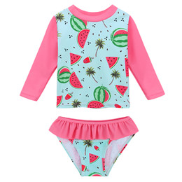 $enCountryForm.capitalKeyWord Australia - Baohulu Cute Print Upf50+baby Girl Swimwear Infant Toddler Swimsuit Long Sleeve Children's Swimwear Two Piece Kids Bathing Suit Y19062801